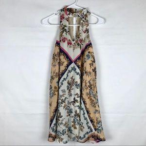 Speechless Sleeveless Floral Choker Dress